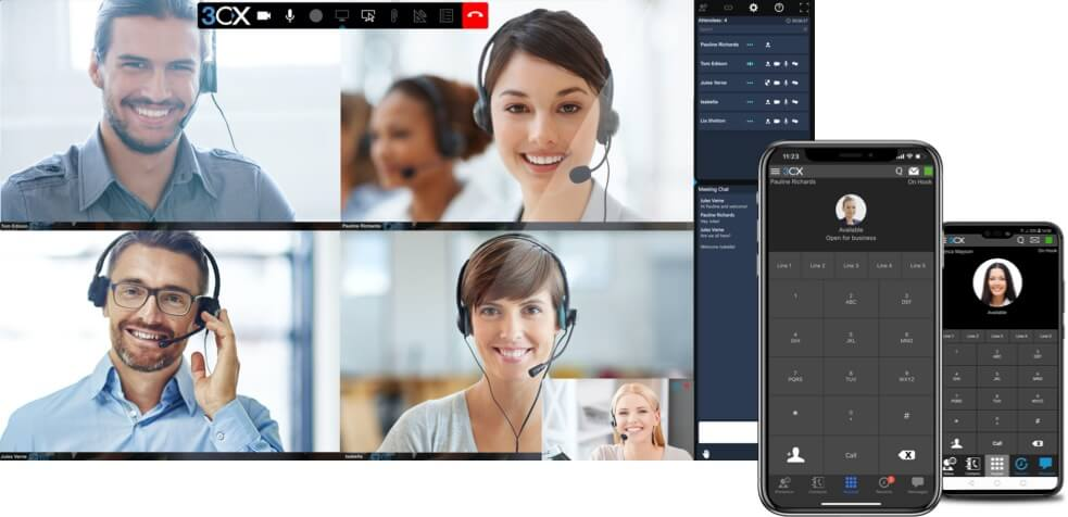 3CX VoIP call software keeping workforces safely connected
